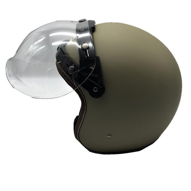 Casco De MotoScooter Fibra Vidrio Visor una burbuja Royal