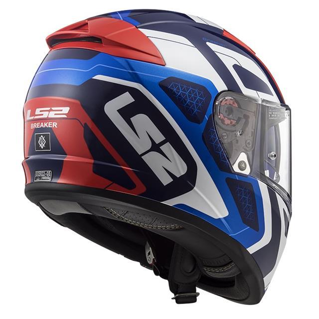 Blu//Bianco//Rosso XS LS2 Casco moto FF390 BREAKER ANDROID Blu Rosso