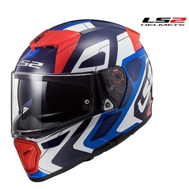 Azul//Blanco//Rojo LS2 Casco de moto FF390 BREAKER ANDROID Azul Rojo XS